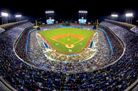Los Angeles Dodgers Stadium Fisheye Print