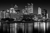 Light up night Pittsburgh Black and White