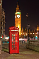 London Red Telephone Booth with Big Ben