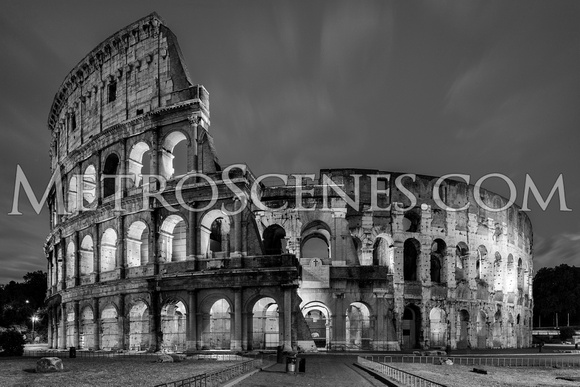 Rome, Italy Black and White