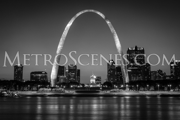 St. Louis Skyline Black and White