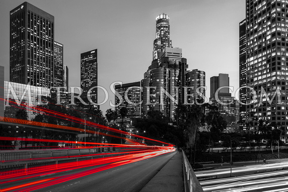Los Angeles Black and White and Red