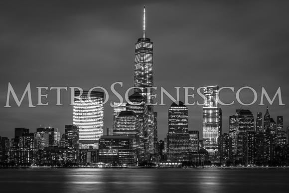 The new World Trade Center in Black and White