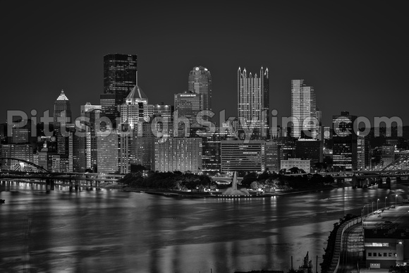 Pittsburgh Skyline Black and White