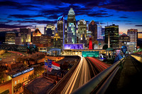 The North Carolina Skyline at night by Matt Robinson (2015)
